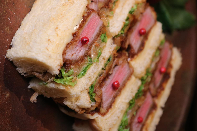 wagyu katsu sandwich close up