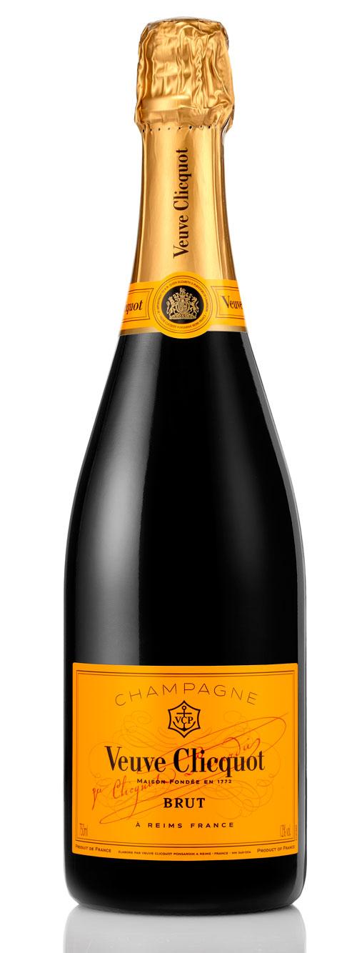 Champagne bottle shot Veuve Clicquot