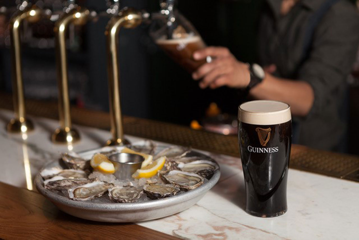 Wright Brothers oysters pint of guiness