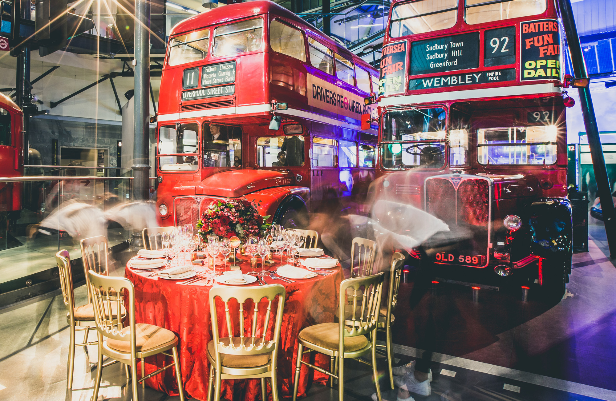 Christmas at London Transport Museum festive events venue hire galleries dining banqueting