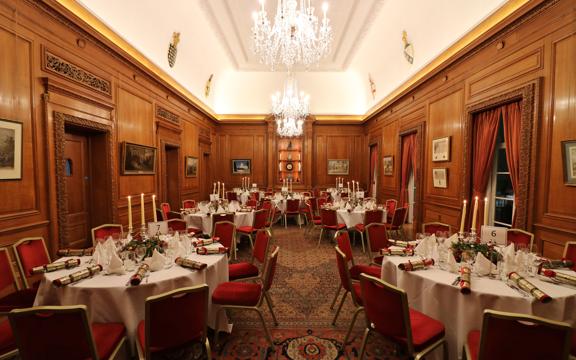 Brewers Hall london venues events christmas festive private hire corporate groups dining round tables