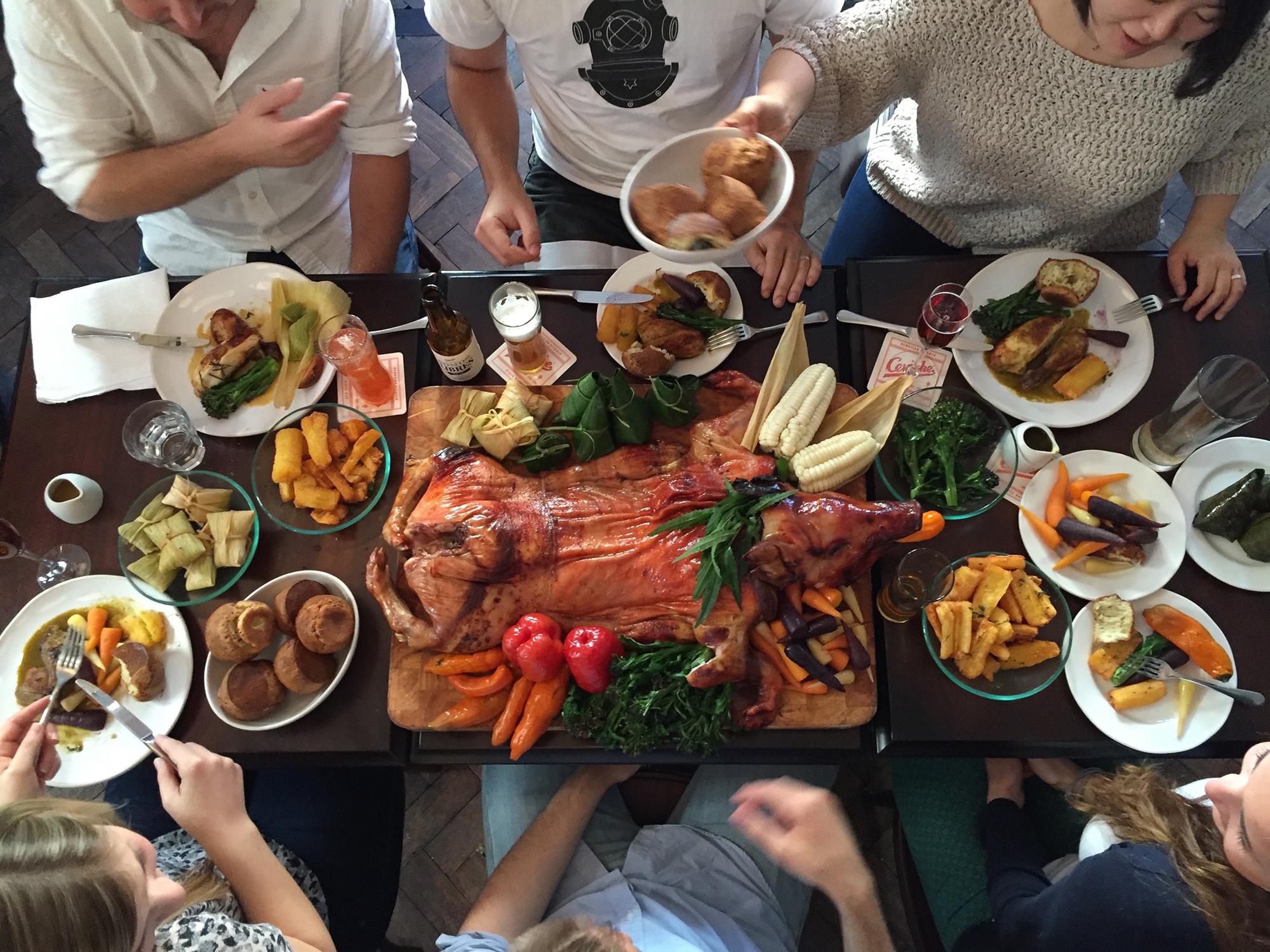 Alternative Christmas dinners ceviche old street london restaurants