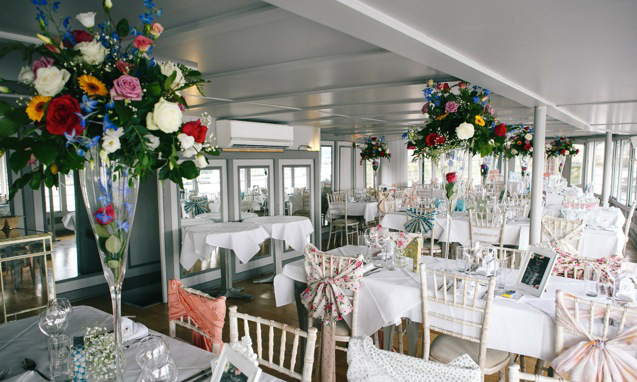 Weddings at The Yacht London - dining