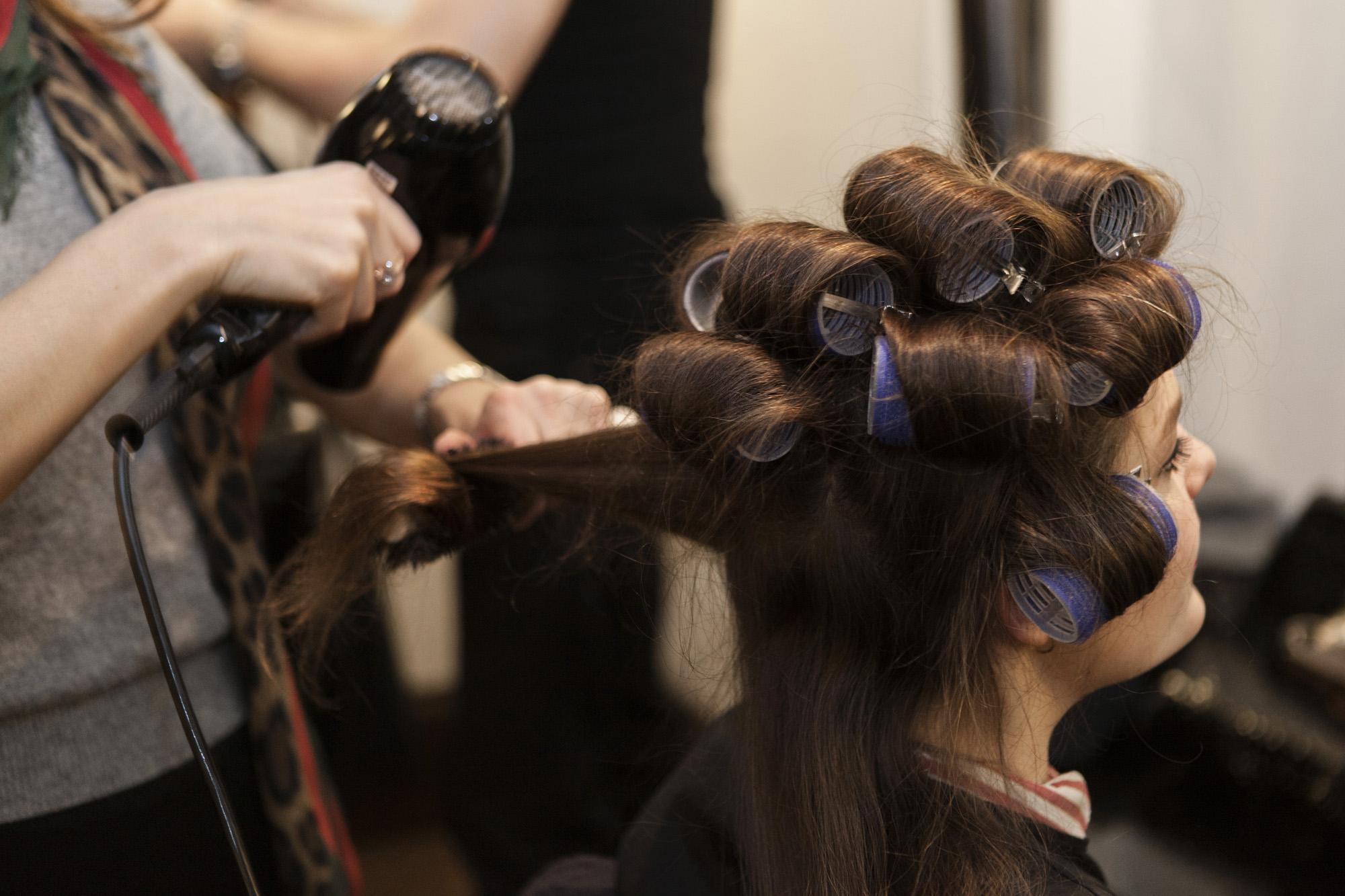 Weddings style Nicky Clarke Hair Salon Mayfair - credit Joanna Bongard