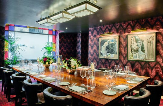 Christmas parties in private dining rooms