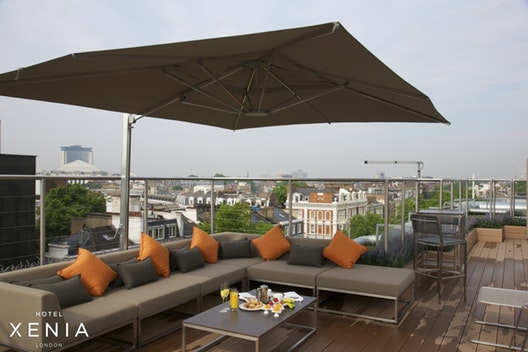 The Rooftop Terrace at Hotel Xenia