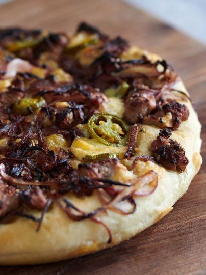 Cheat's deep-pan pizza