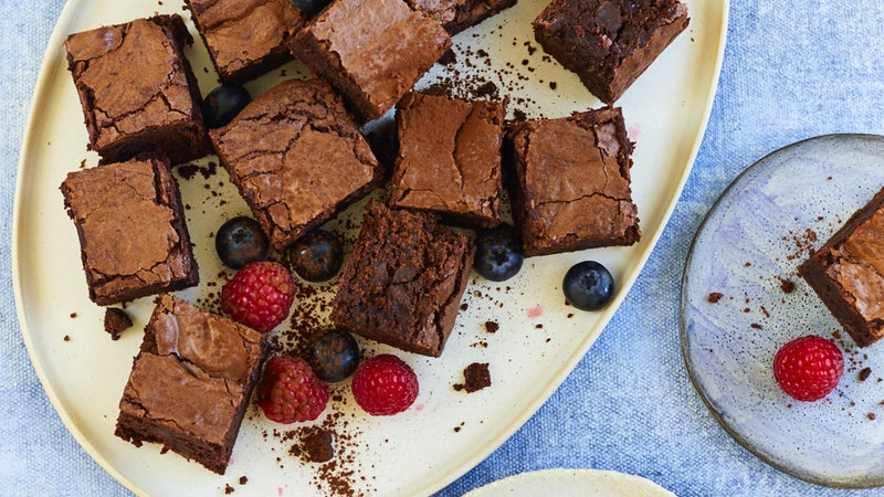 Gooey Dark Chocolate Chip Brownies