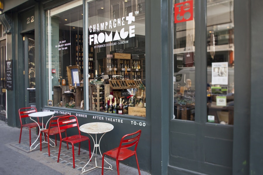 Champagne + Fromage Covent Garden