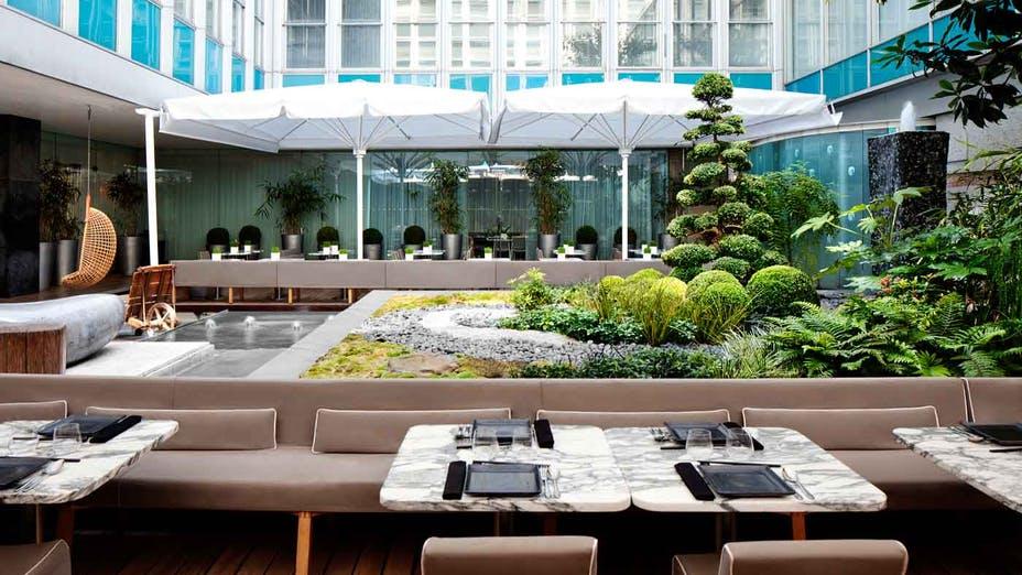 Courtyard Garden at Sanderson hotel