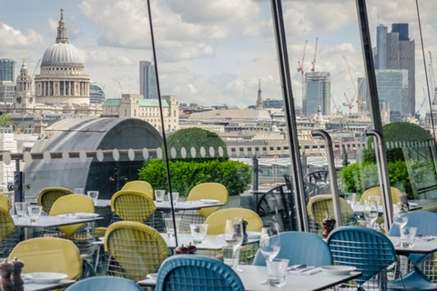 Dining at Oxo Tower Brasserie