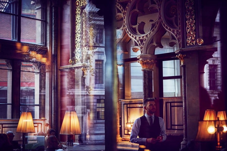 The Gilbert Scott bar at St Pancras Renaissance Hotel