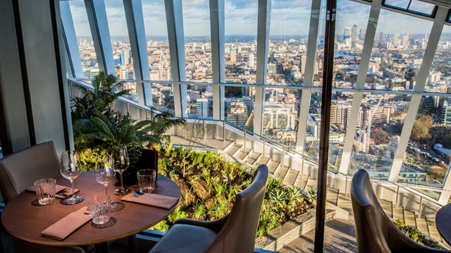 Darwin Brasserie at the Sky Garden: best brunch places with a view in London