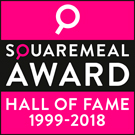SquareMeal award hall of fame 1999-2018 logo badge