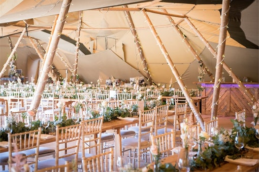 Tipis at Beaumont Hall